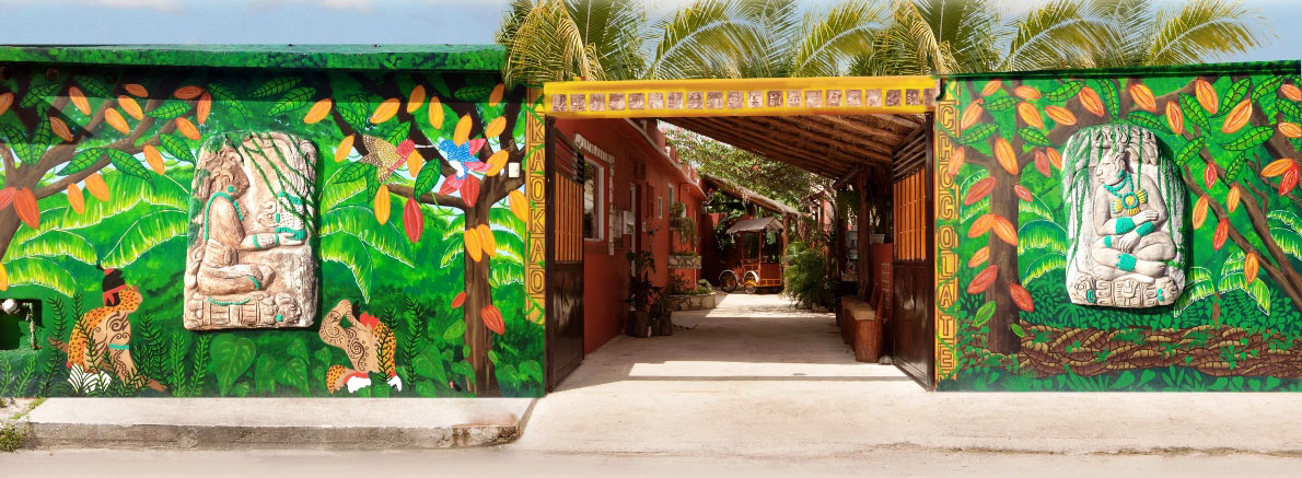 front view chocolate factory cozumel